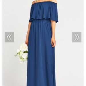 Navy blue strapless dress! Worn once at wedding